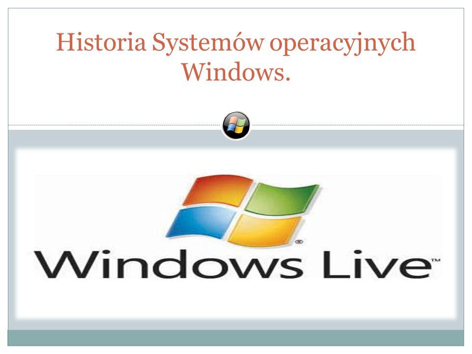Historia Systemów operacyjnych Windows.