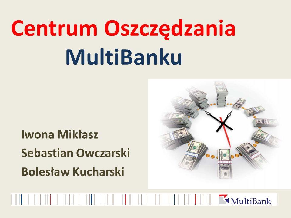 Centrum Oszczędzania MultiBanku Iwona Mikłasz Sebastian Owczarski Bolesław Kucharski