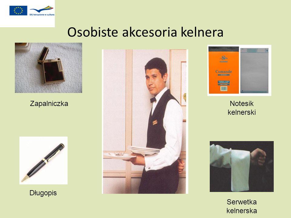Osobiste akcesoria kelnera Zapalniczka Długopis Notesik kelnerski Serwetka kelnerska