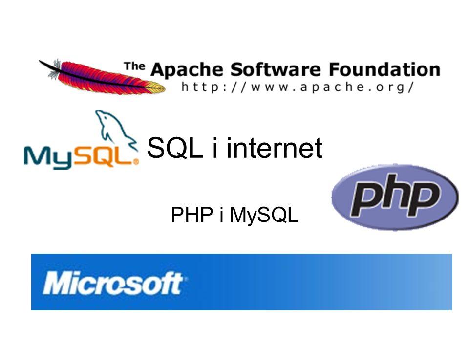 Programy MySQL: serverMySQL: server WWW serverWWW server Interpreter PHPInterpreter PHP Przeglądarka stron wwwPrzeglądarka stron www