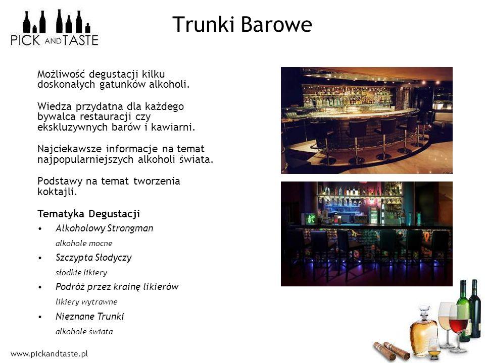 www.pickandtaste.pl Możliwość degustacji kilku doskonałych gatunków alkoholi. Wiedza przydatna dla każdego bywalca restauracji czy ekskluzywnych barów