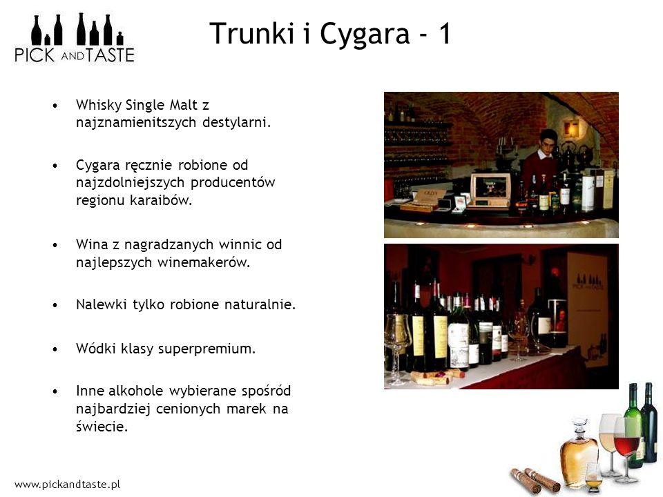 www.pickandtaste.pl Trunki i Cygara - 1 Whisky Single Malt z najznamienitszych destylarni. Cygara ręcznie robione od najzdolniejszych producentów regi