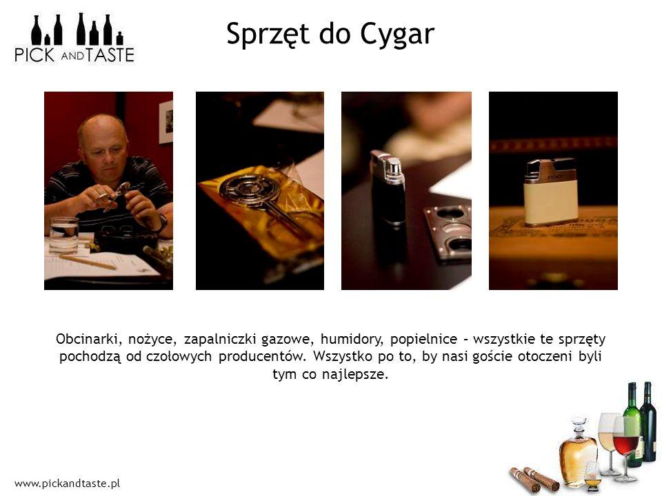 www.pickandtaste.pl Sprzęt do Cygar Obcinarki, nożyce, zapalniczki gazowe, humidory, popielnice – wszystkie te sprzęty pochodzą od czołowych producent