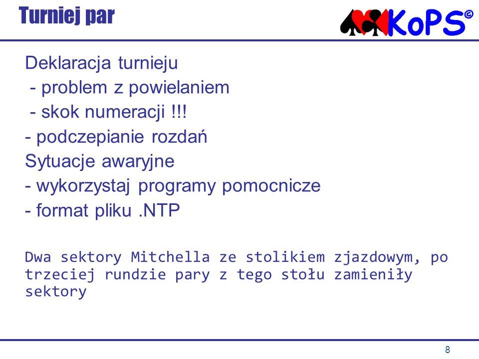 8 Turniej par Deklaracja turnieju - problem z powielaniem - skok numeracji !!.