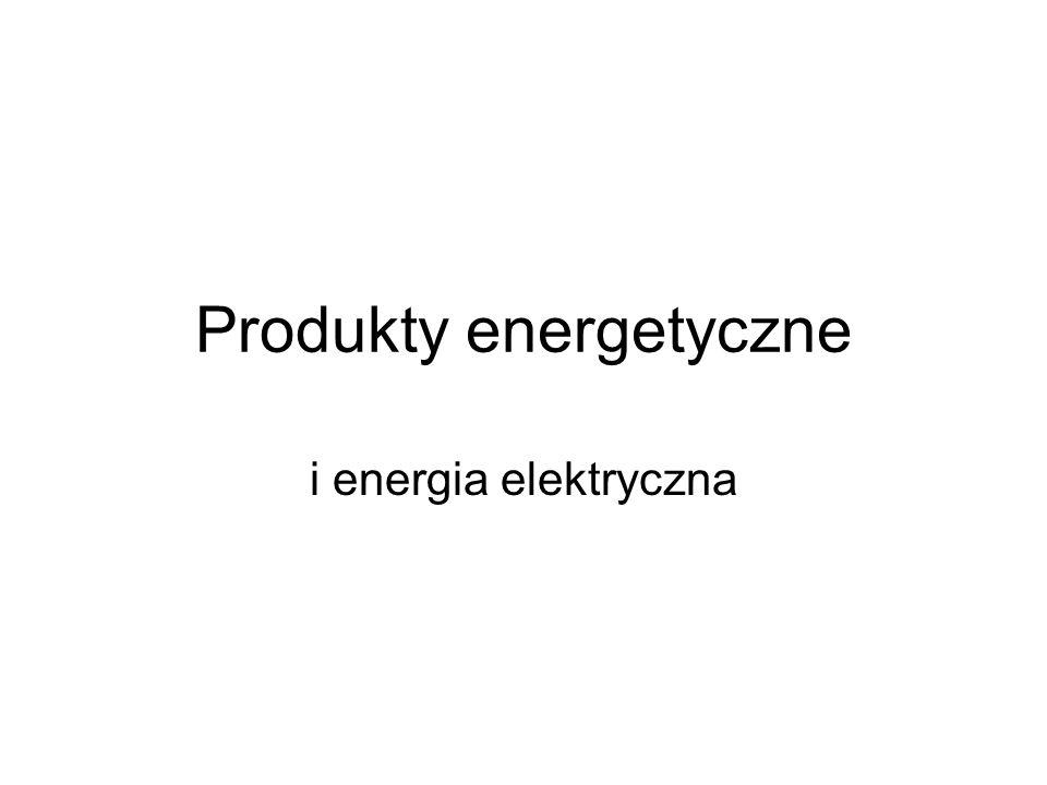 Produkty energetyczne i energia elektryczna