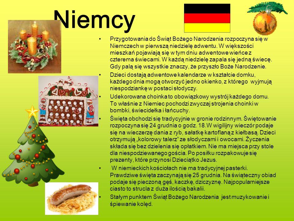 Niemcy Przygotowania do Świąt Bożego Narodzenia rozpoczyna się w Niemczech w pierwszą niedzielę adwentu. W większości mieszkań pojawiają się w tym dni