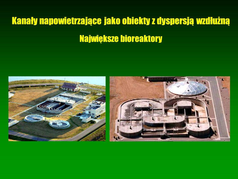 Kanały napowietrzające jako obiekty z dyspersją wzdłużną Największe bioreaktory