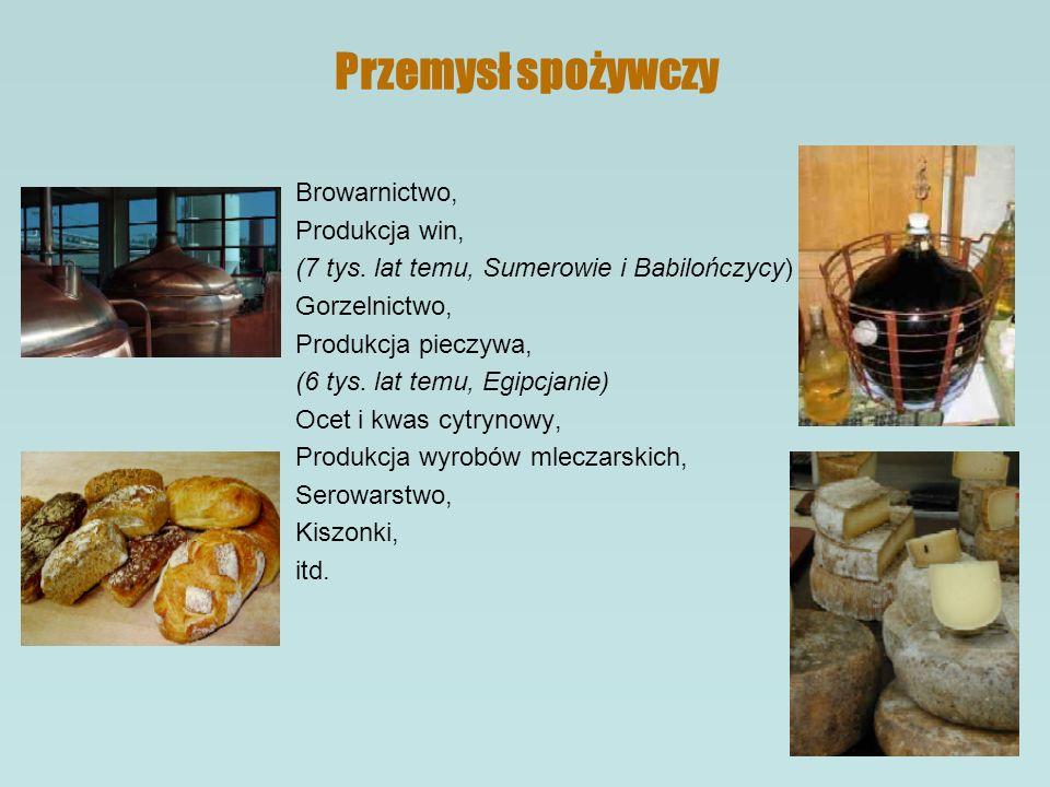 Przemysł spożywczy Browarnictwo, Produkcja win, (7 tys.