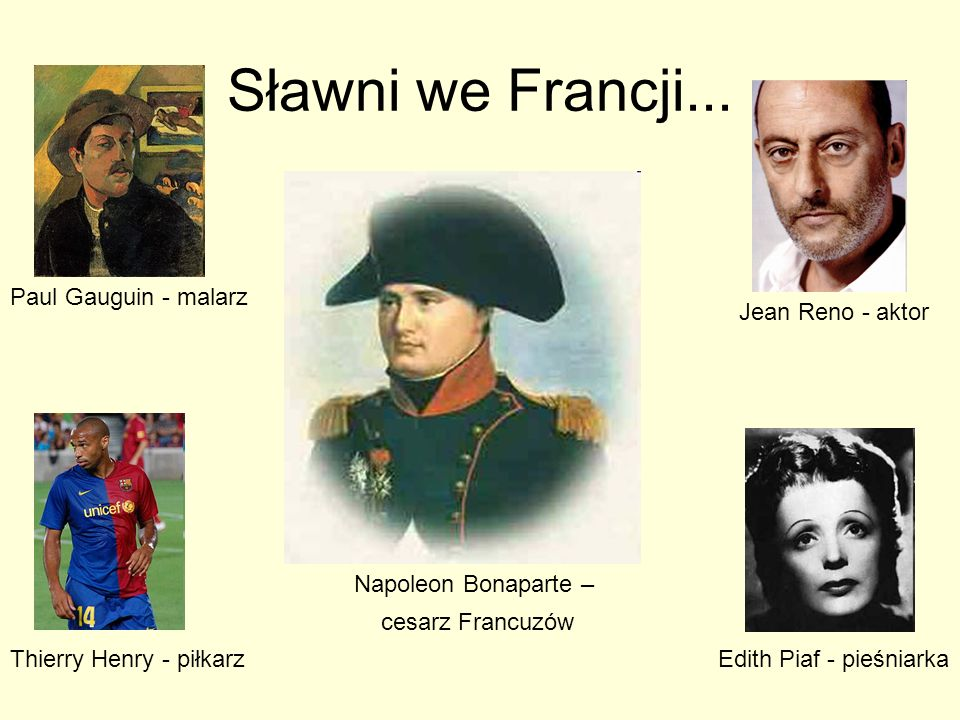 Sławni we Francji...