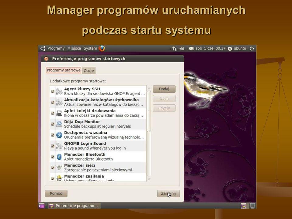 Manager programów uruchamianych podczas startu systemu