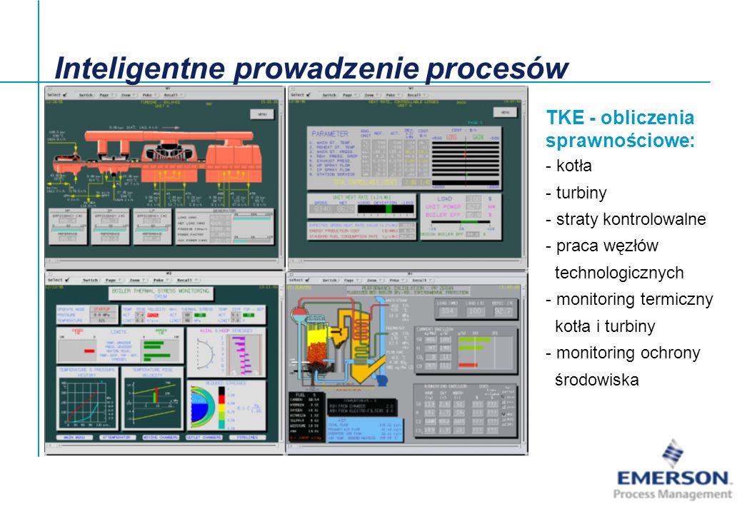 TKE - obliczenia sprawnościowe: - kotła - turbiny - straty kontrolowalne - praca węzłów technologicznych - monitoring termiczny kotła i turbiny - moni