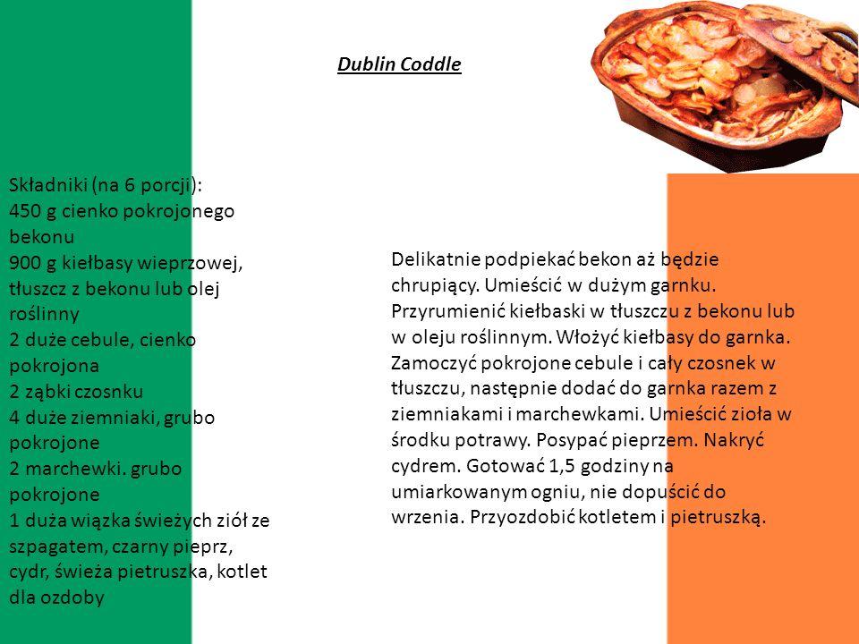 Irlandia Kuchnia Irlandzka jest bardzo podobna do kuchni angielskiej ale posiada wiele rodzaj ów owoców morza Ważną rolę w irlandzkiej kuchni stanowią