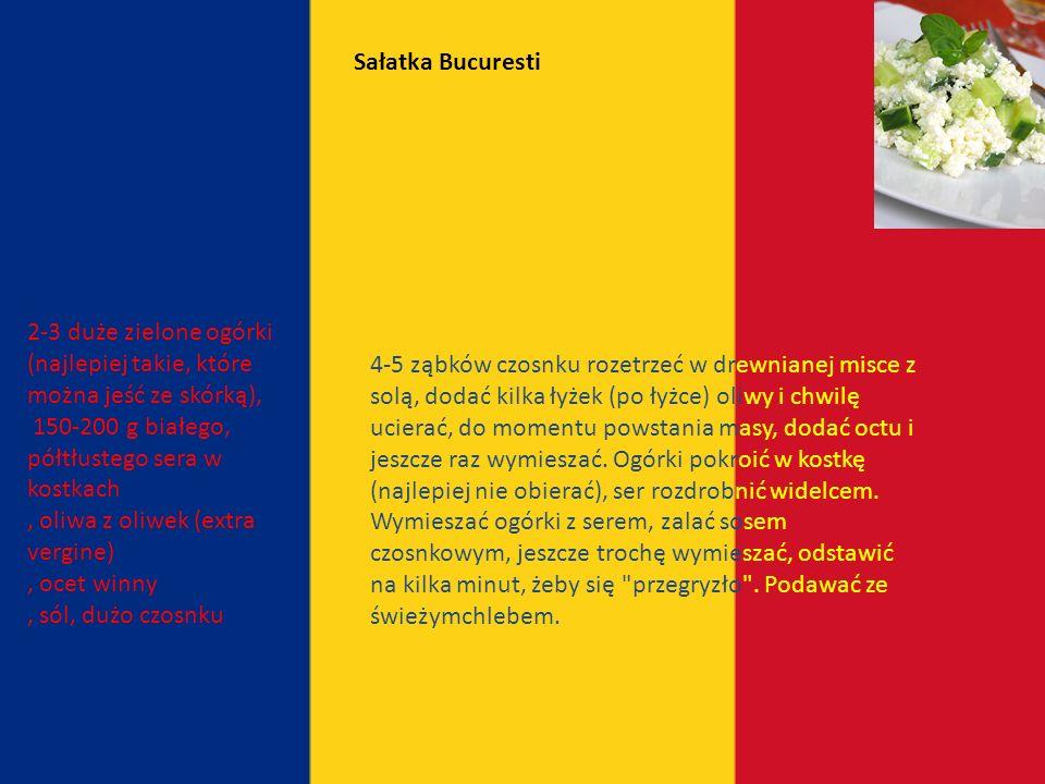 Kuchnia rumuńska zbliżona jest do śródziemnomorskiej, ale pozostaje pod silnym wpływem tureckim Rumunia