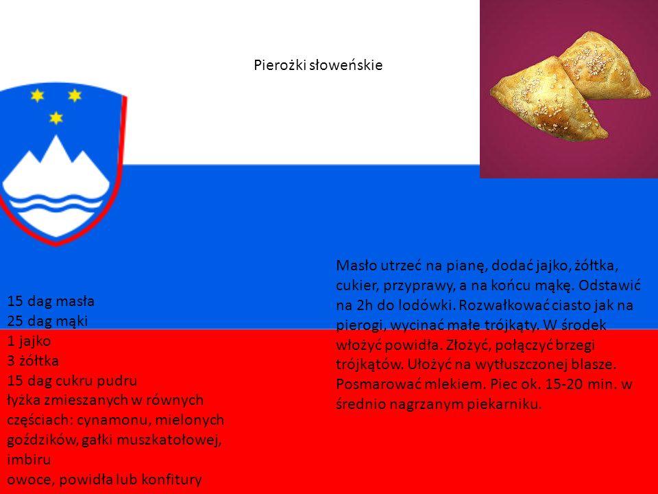 Kuchnia słoweńska pozostaje pod silnym wpływem krajów sąsiednich. Z Austrii pochodzi kiełbasa (klobasa), faszerowany owocami i orzechami strudel (zavi