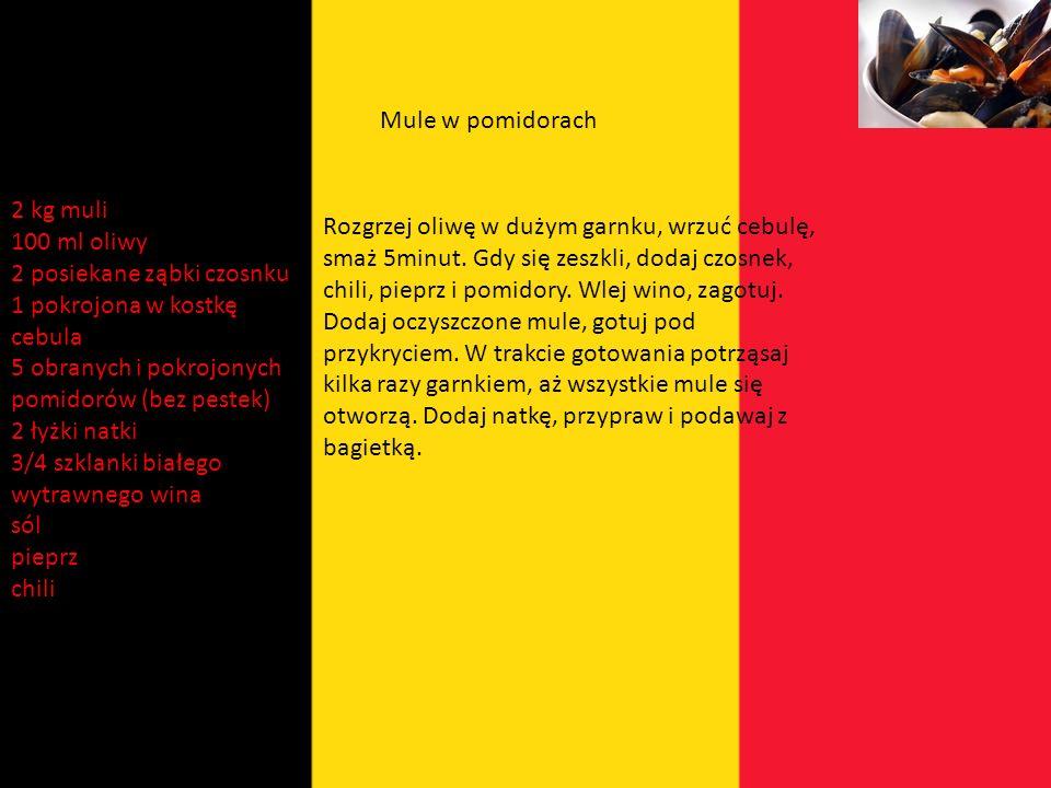 Belgia Belgowie w dużej mierze wzorują się na francuzach. Alle nie do końca w zamian za wyborne francuskie wina zyskujemy między innymi pyszne belgijs