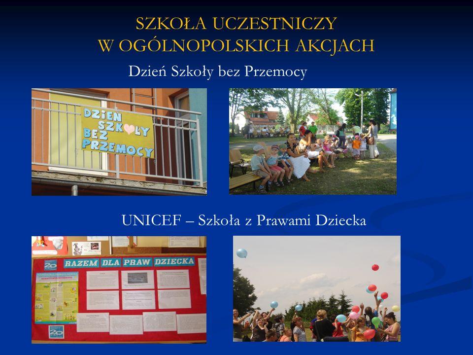 Dzień Szkoły bez Przemocy SZKOŁA UCZESTNICZY W OGÓLNOPOLSKICH AKCJACH UNICEF – Szkoła z Prawami Dziecka