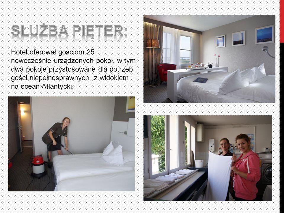 Hotel oferował gościom 25 nowocześnie urządzonych pokoi, w tym dwa pokoje przystosowane dla potrzeb gości niepełnosprawnych, z widokiem na ocean Atlantycki.