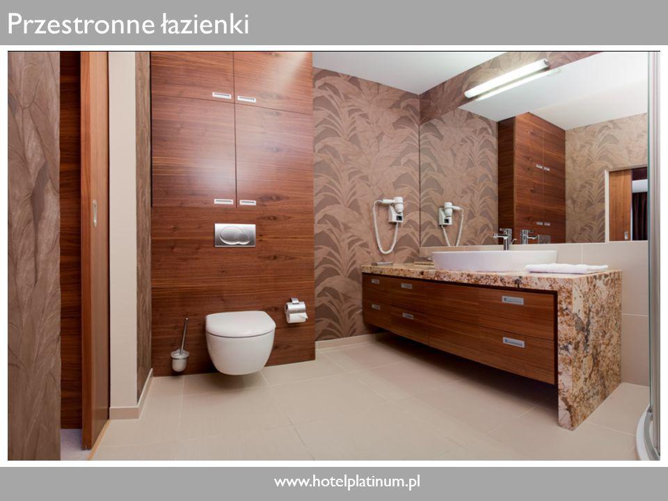 www.hotelplatinum.pl Przestronne łazienki