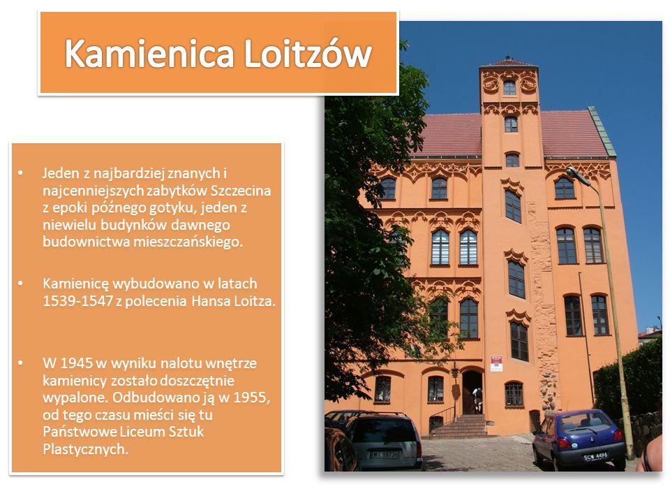 Jeden z najbardziej znanych i najcenniejszych zabytków Szczecina z epoki późnego gotyku, jeden z niewielu budynków dawnego budownictwa mieszczańskiego