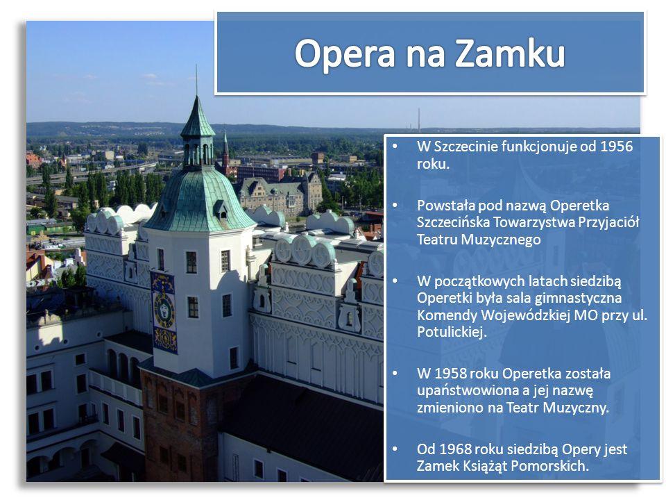 W Szczecinie funkcjonuje od 1956 roku. Powstała pod nazwą Operetka Szczecińska Towarzystwa Przyjaciół Teatru Muzycznego W początkowych latach siedzibą