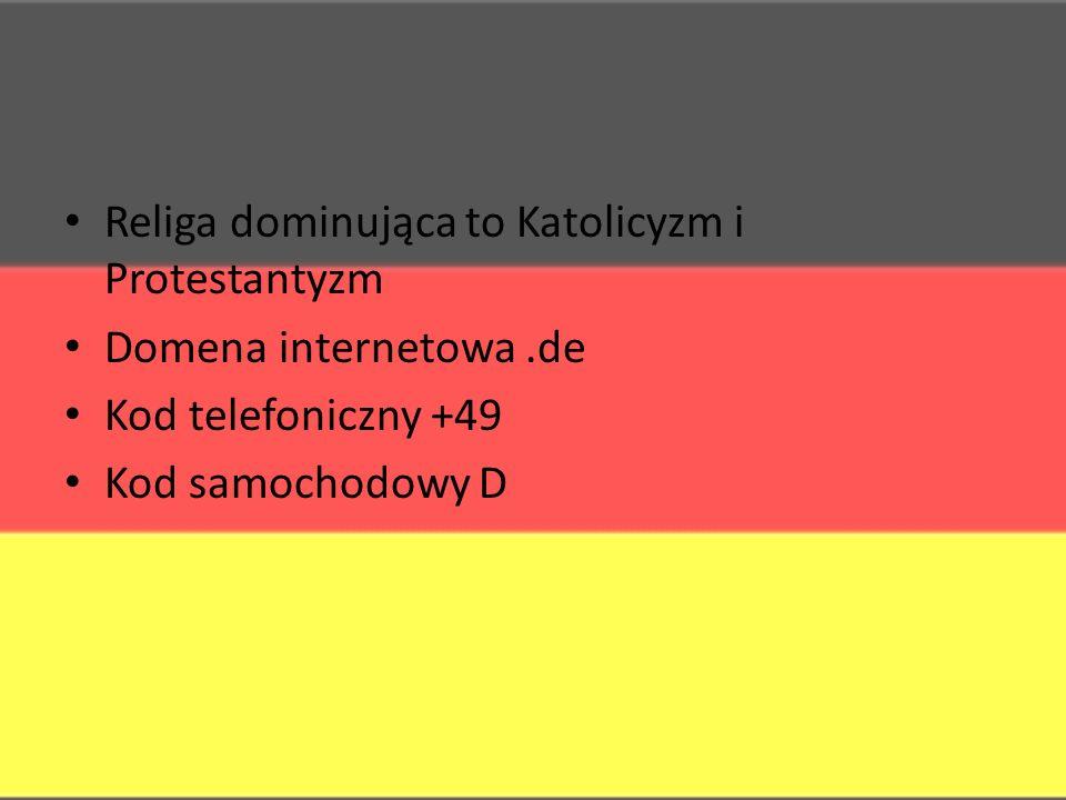 Religa dominująca to Katolicyzm i Protestantyzm Domena internetowa.de Kod telefoniczny +49 Kod samochodowy D