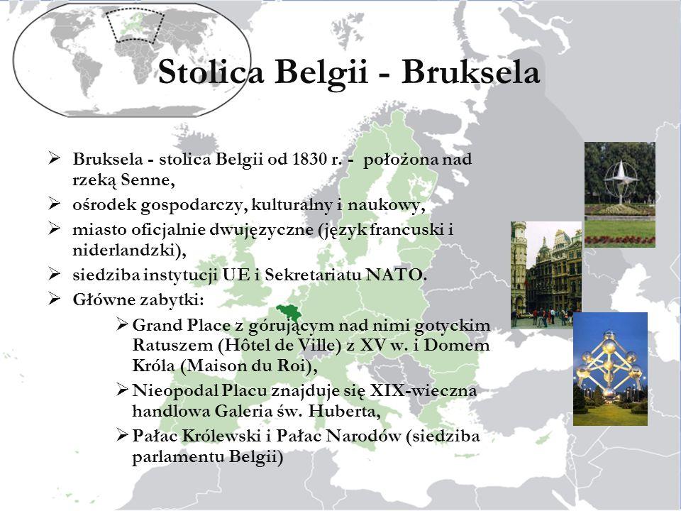 Stolica Belgii - Bruksela Bruksela - stolica Belgii od 1830 r.