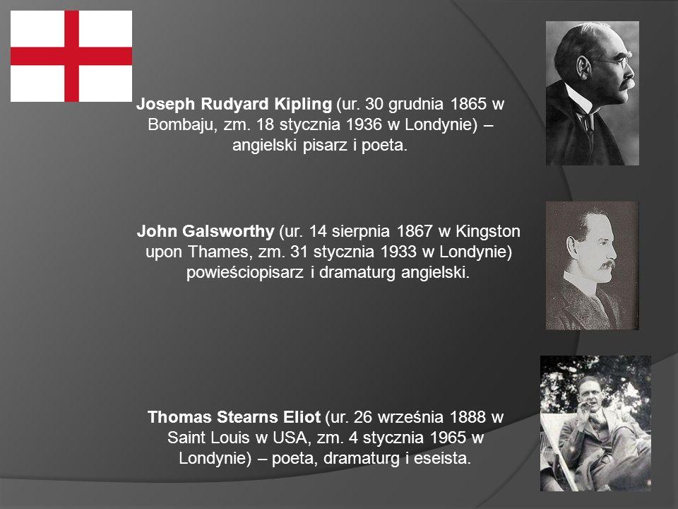 Joseph Rudyard Kipling (ur.30 grudnia 1865 w Bombaju, zm.