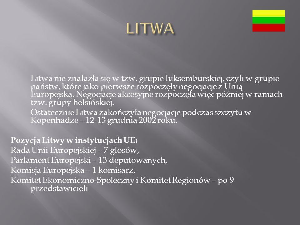 Litwa nie znalazła się w tzw.