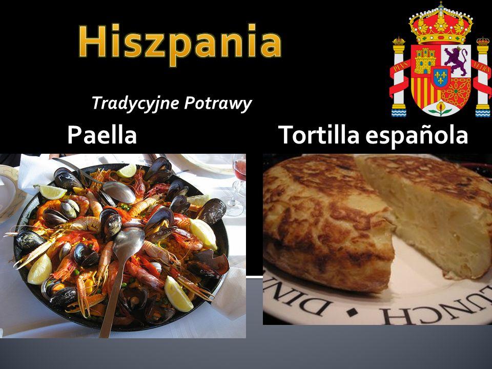 Paella Tradycyjne Potrawy Tortilla española