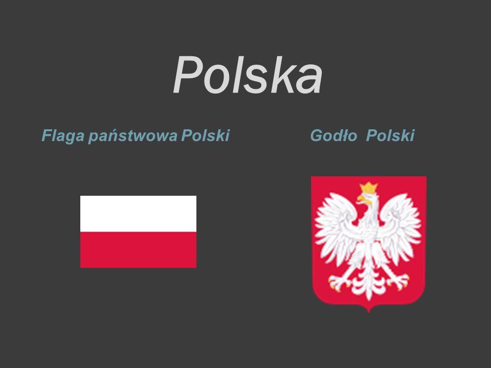 Polska Flaga państwowa PolskiGodło Polski