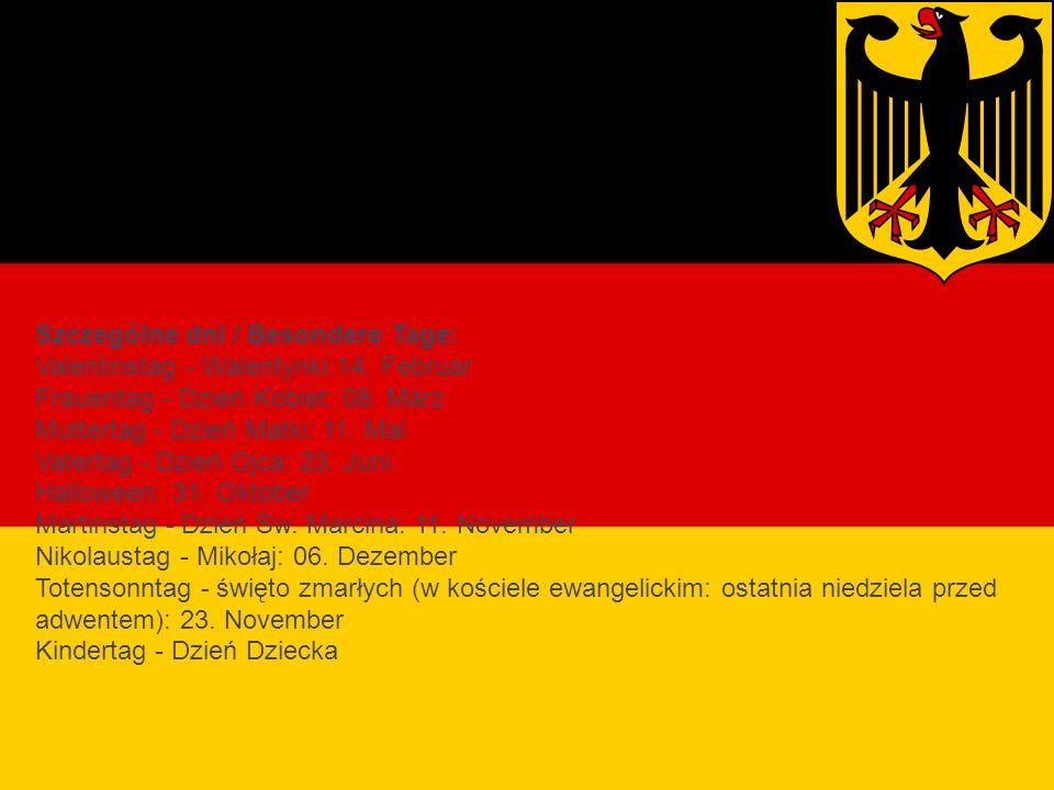 Święta religijne Niemiec Szczególne dni / Besondere Tage: Valentinstag - Walentynki:14.