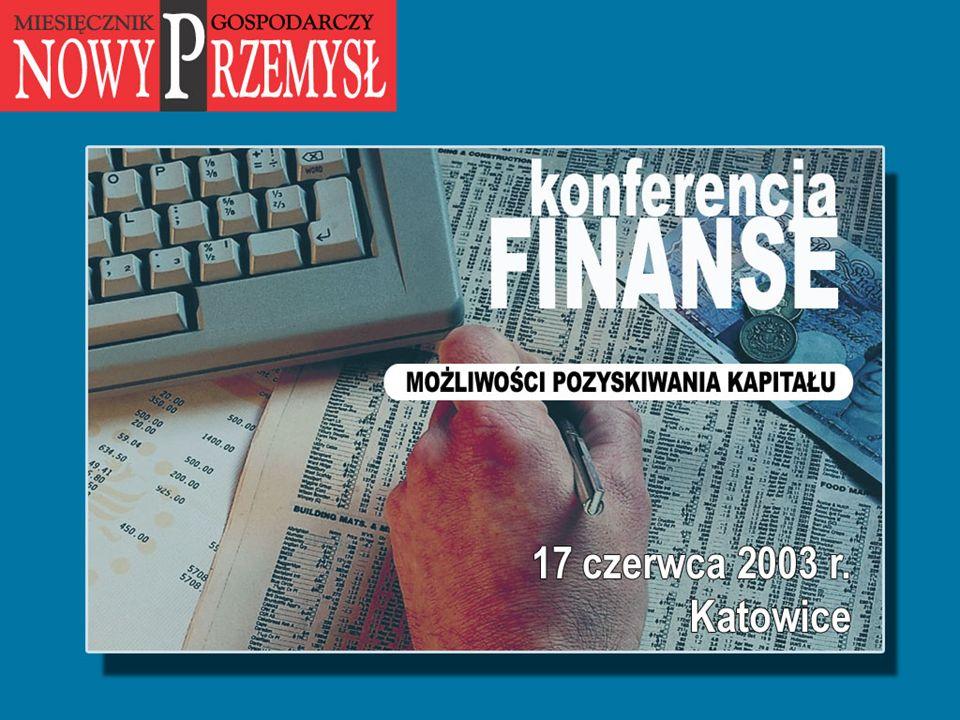 Nowoczesny bank - partner i doradca dla MSP Joanna Pacuła Departament Obsługi Klientów Korporacyjnych Katowice, 17 czerwca 2003