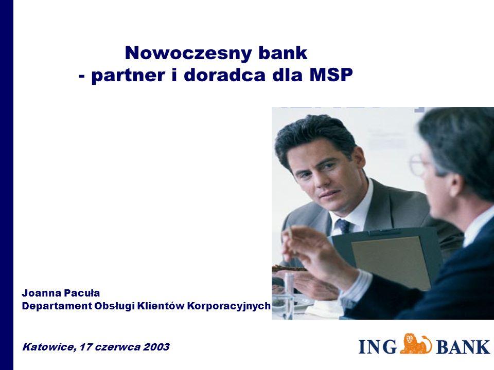Bank - doradca w zakresie finansowania PHARE (2000) Spójność Społeczno-Gospodarcza Rozwój MSP – Fundusz Dotacji Inwestycji Cel strategiczny projektu: wzmocnienie spójności gospodarczej i społecznej, umacnianie i zwiększanie roli MSP Fundusz dotacji inwestycyjnych bezpośrednio wiąże dotację z kredytem bankowym, udzielonym na potrzeby danego projektu.
