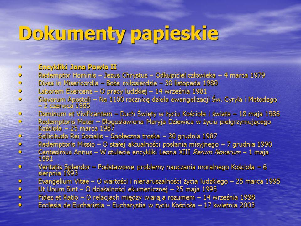 Dokumenty papieskie Encykliki Jana Pawła II Encykliki Jana Pawła II Redemptor Hominis – Jezus Chrystus – Odkupiciel człowieka – 4 marca 1979 Redemptor
