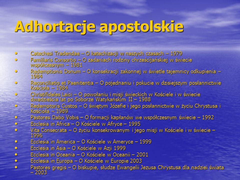 Adhortacje apostolskie Catechesi Tradendae – O katechizacji w naszych czasach – 1979 Catechesi Tradendae – O katechizacji w naszych czasach – 1979 Fam