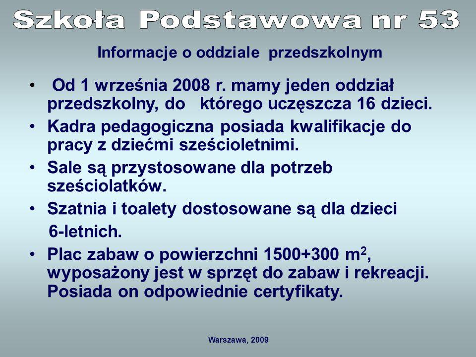 Warszawa, 2009 Sala do zajęć dydaktycznych