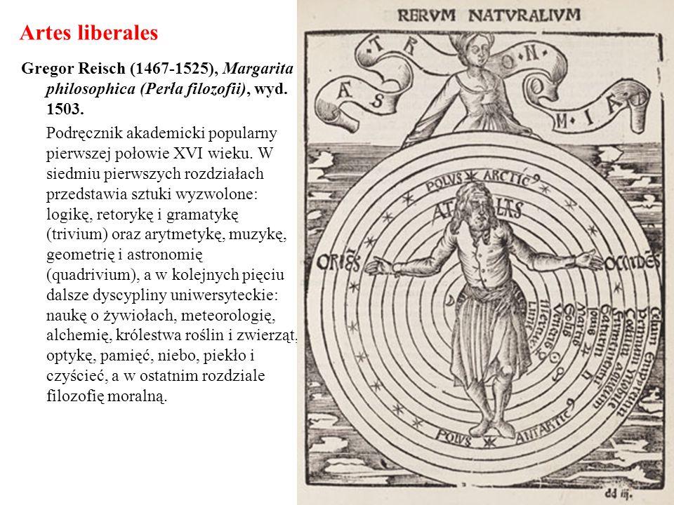 Artes liberales Gregor Reisch (1467-1525), Margarita philosophica (Perła filozofii), wyd. 1503. Podręcznik akademicki popularny pierwszej połowie XVI