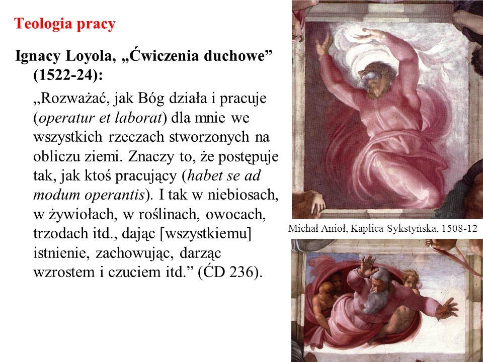 Teologia pracy Ignacy Loyola, Ćwiczenia duchowe (1522-24): Rozważać, jak Bóg działa i pracuje (operatur et laborat) dla mnie we wszystkich rzeczach st