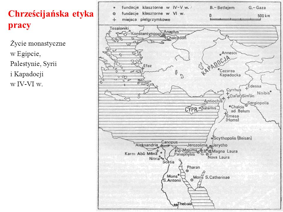 Chrześcijańska etyka pracy Ważniejsze klasztory w Europie do połowy XII wieku.