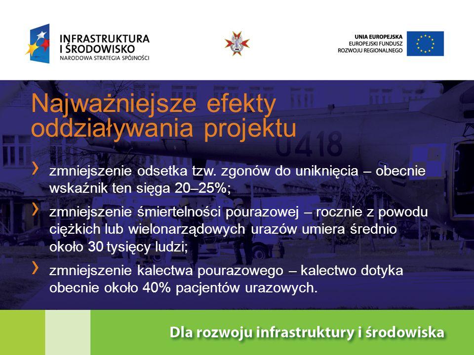 Finansowanie projektu ogólny koszt projektu – 11 243 000 PLN dofinansowanie ze środków Europejskiego Funduszu Rozwoju Regionalnego – 9 556 550 PLN dotacja celowa Ministerstwa Zdrowia – 1 686 450 PLN