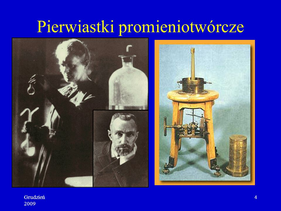 Grudzień 2009 3 Promieniotwórczość Henri Becquerel 1896