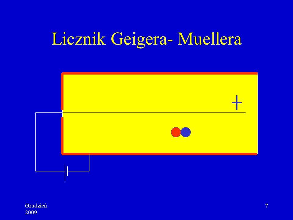 Grudzień 2009 7 Licznik Geigera- Muellera