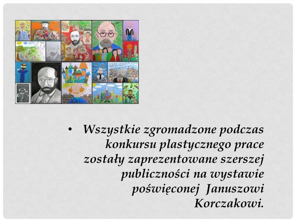 Wybrane prace plastyczne, wykonane przez uczniów naszej szkoły, zostały przesłane do Sokołowskiego Ośrodka Kultury w Sokołowie Podlaskim i wzięły udział w mazowieckim konkursie plastycznym pod hasłem Dzieci Januszowi Korczakowi.