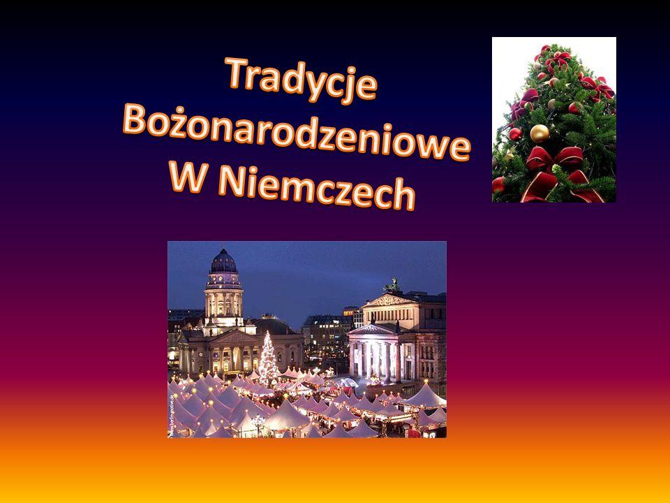 W Niemczech Boże Narodzenie obejmuje trzy dni: 24 grudnia - Wigilię , pierwszy dzień Świąt Bożego Narodzenia, narodziny Jezusa Chrystusa (25.12.) i drugi dzień Świąt Bożego Narodzenia (26.12.).