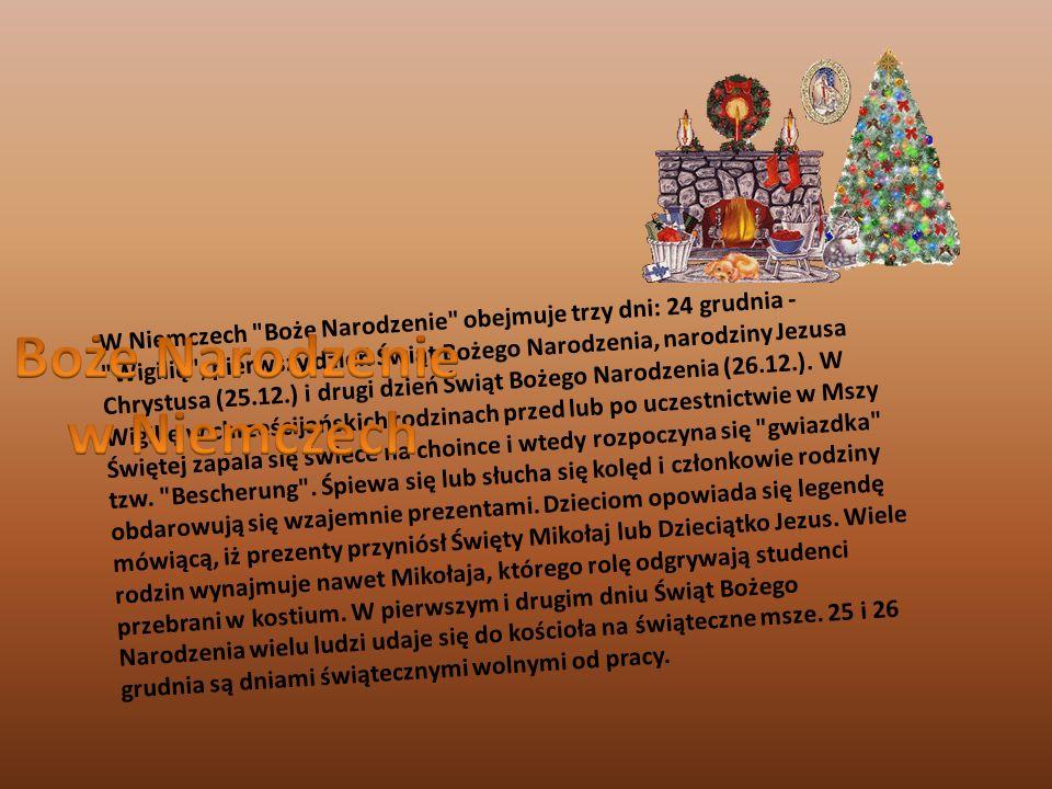 W odróżnieniu od Polaków, Niemcy w Wigilię Bożego Narodzenia najczęściej nie poszczą, a wieczerza wygląda znacznie skromniej niż u nas.