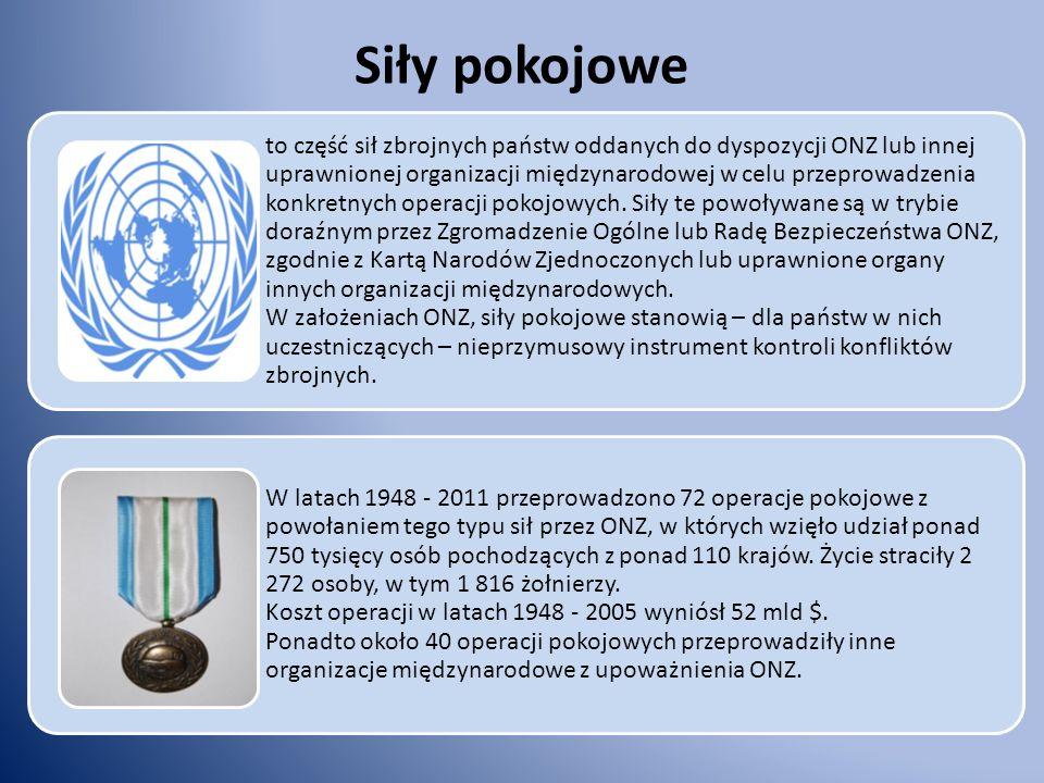 Wojskowa misja obserwacyjna to działania na rzecz pokoju, których zadaniem jest monitorowanie zawieszenia broni i odwrotu wojsk w strefie konfliktu oraz patrolowanie granic i stref zdemilitaryzowanych przez nieuzbrojonych oficerów oznakowanych symbolami ONZ.