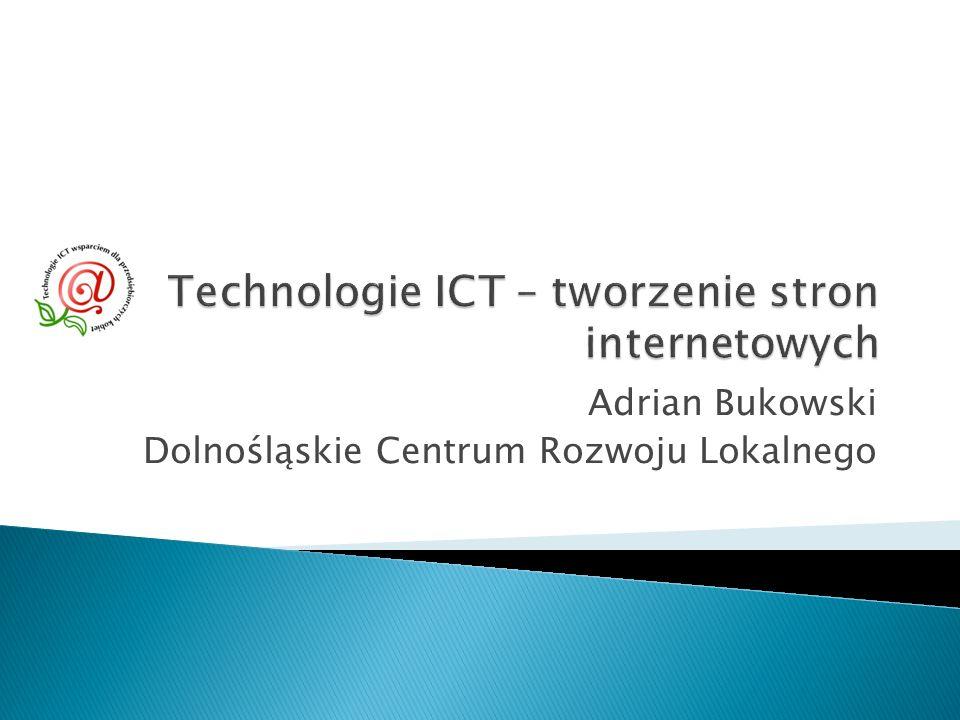 Adrian Bukowski Dolnośląskie Centrum Rozwoju Lokalnego