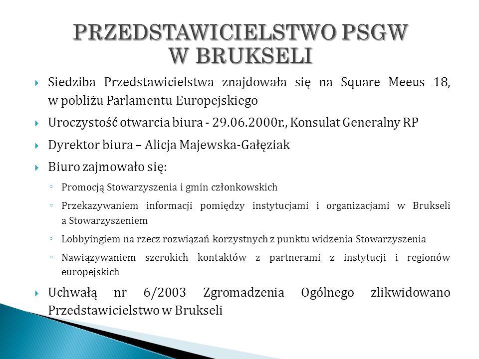 Siedziba Przedstawicielstwa znajdowała się na Square Meeus 18, w pobliżu Parlamentu Europejskiego Uroczystość otwarcia biura - 29.06.2000r., Konsulat
