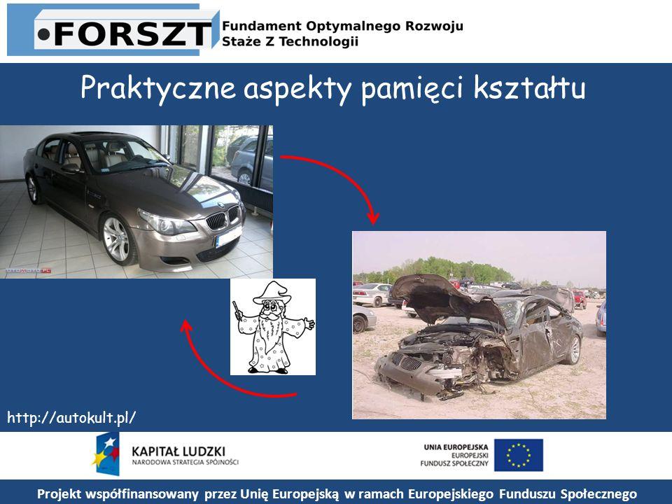 Praktyczne aspekty pamięci kształtu http://autokult.pl/ Projekt współfinansowany przez Unię Europejską w ramach Europejskiego Funduszu Społecznego