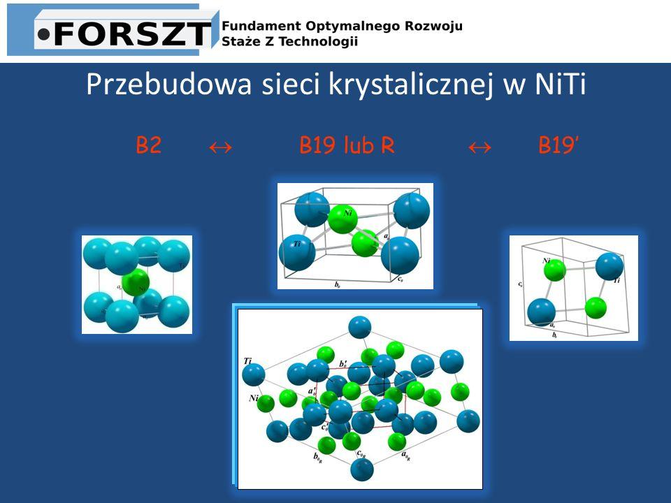 Przebudowa sieci krystalicznej w NiTi B2 B19 lub R B19